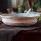泥彩楕円鉢