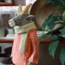 動物彩色人形ウシ
