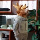 動物彩色人形シカ