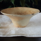穴窯ベージュ広口鉢